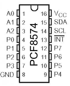 Pinbelegung des Portexpanders PCF8574